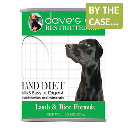 Daves Pet Food Dave's Dog Can Restricted Bland Lamb & Rice 13oz