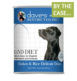 Dave's Dog Can Restricted Bland Chicken & Rice 13oz