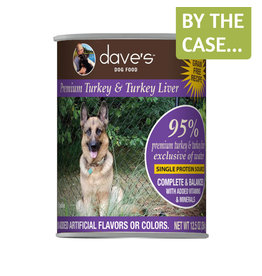 Daves Pet Food Dave's Dog Can 95% Turkey & Liver 12.5oz