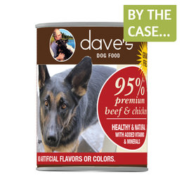 Daves Pet Food Dave's Dog Can 95% Beef & Chicken 12.5oz