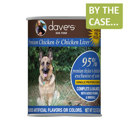 Daves Pet Food Dave's Dog Can 95% Chicken & Liver 12.5oz