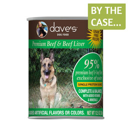 Daves Pet Food Dave's Dog Can 95% Beef & Liver 12.5oz