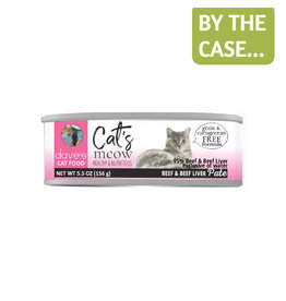 Daves Pet Food Dave's Can Cat's Meow 95% Beef & Liver 5.5oz