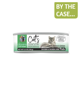 Daves Pet Food Dave's Can Cat's Meow 95% Chicken & Liver 5.5oz