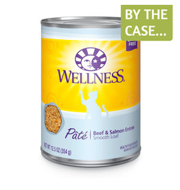 Wellness Wellness Cat Can Beef & Salmon Pate 12oz