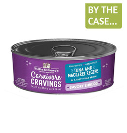 Stella and Chewys SC Carnivore Cravings Shredded Tuna & Mackerel 2.8oz