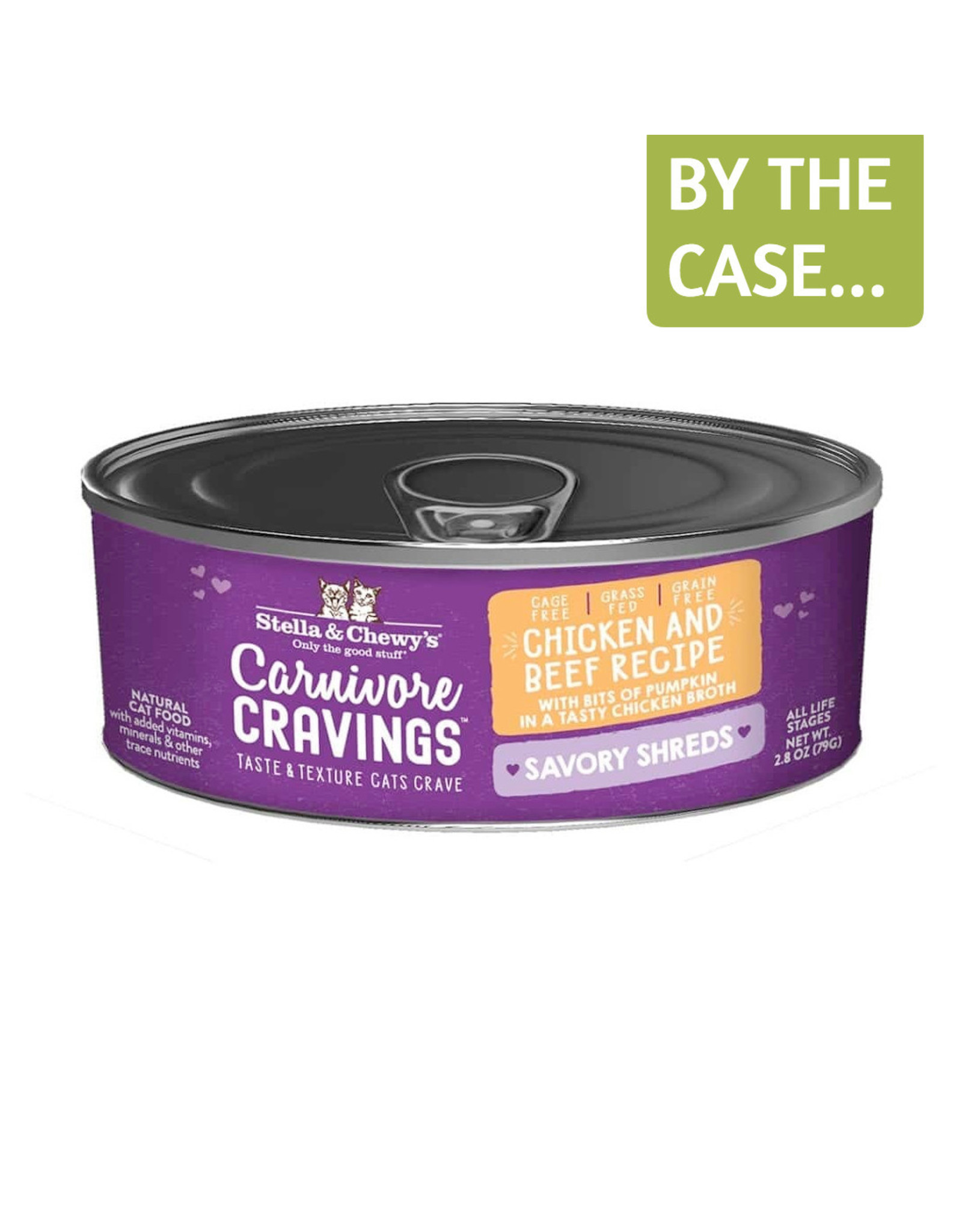Stella and Chewys Stella & Chewy's Wet Cat Food Carnivore Cravings Savory Shreds Chicken & Beef Recipe 2.8oz Can Grain Free
