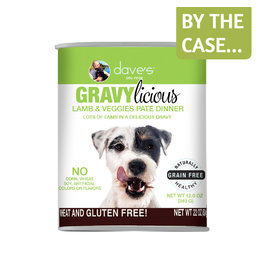 Daves Pet Food Dave's Dog Gravylicious Lamb Veggies 12oz
