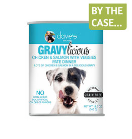 Daves Pet Food Dave's Dog Gravylicious Chicken Salmon 12oz