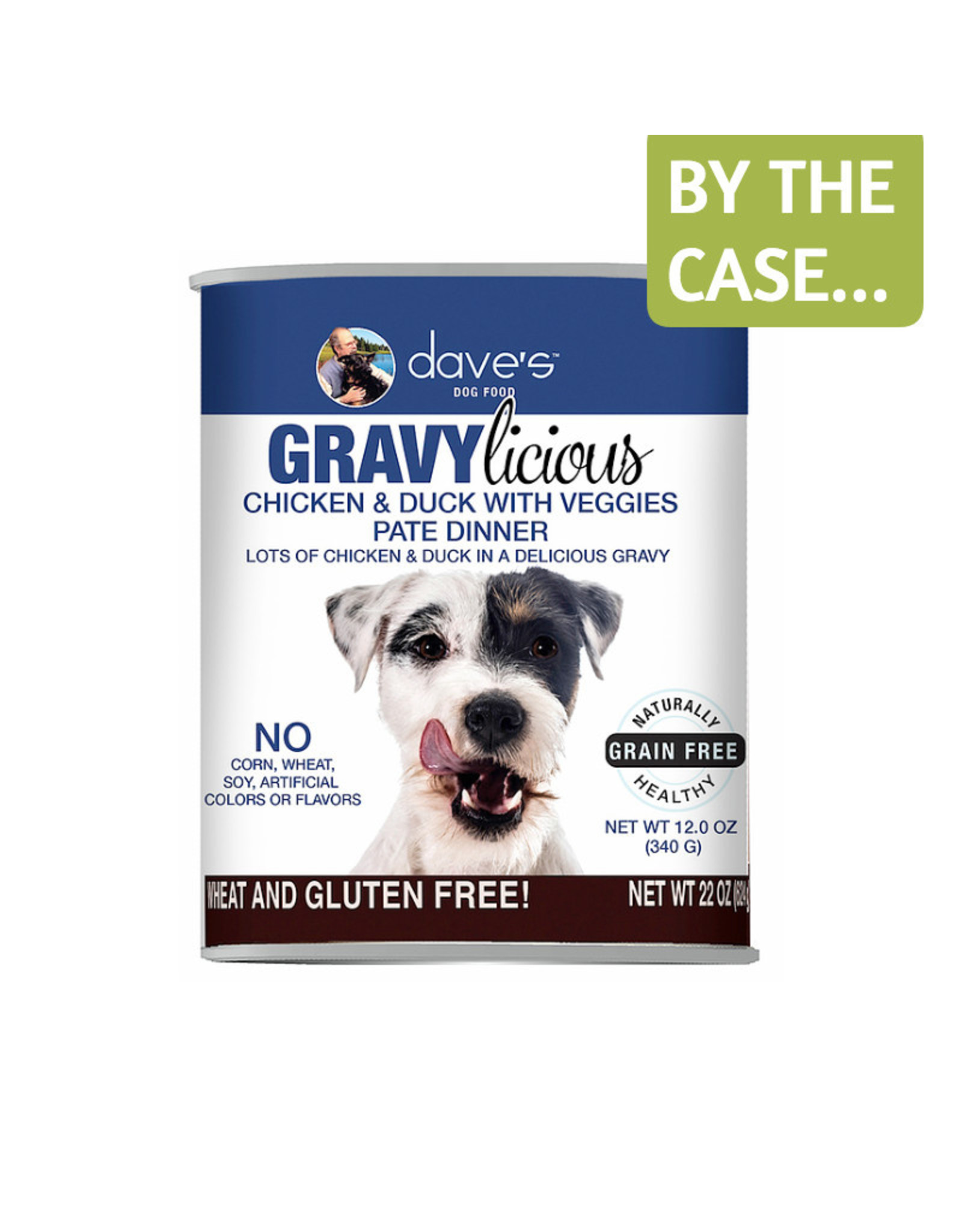 Daves Pet Food Dave's Wet Dog Food Gravylicious Chicken and Duck with Veggies Pate Dinner 12oz Can Grain Free