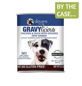 Daves Pet Food Dave's Dog Gravylicious Chicken Duck 12oz