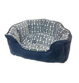 "Ethical Pet / Spot Sleep Zone 24"" Scallop Bed Bones Blue"