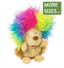 Go Dog Crazy Hairs Silent Squeak Hedgehog Toy