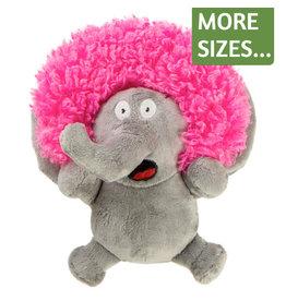 Go Dog Crazy Hairs Silent Squeak Elephant Toy