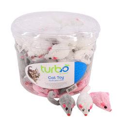 Turbo by Coastal Turbo Furry Mice Cat Toys