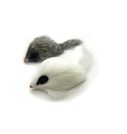Go Cat Feather Toys Go Cat Long Haired Fur Mouse
