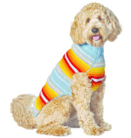 Chilly Dog Turquoise Serape Sweater
