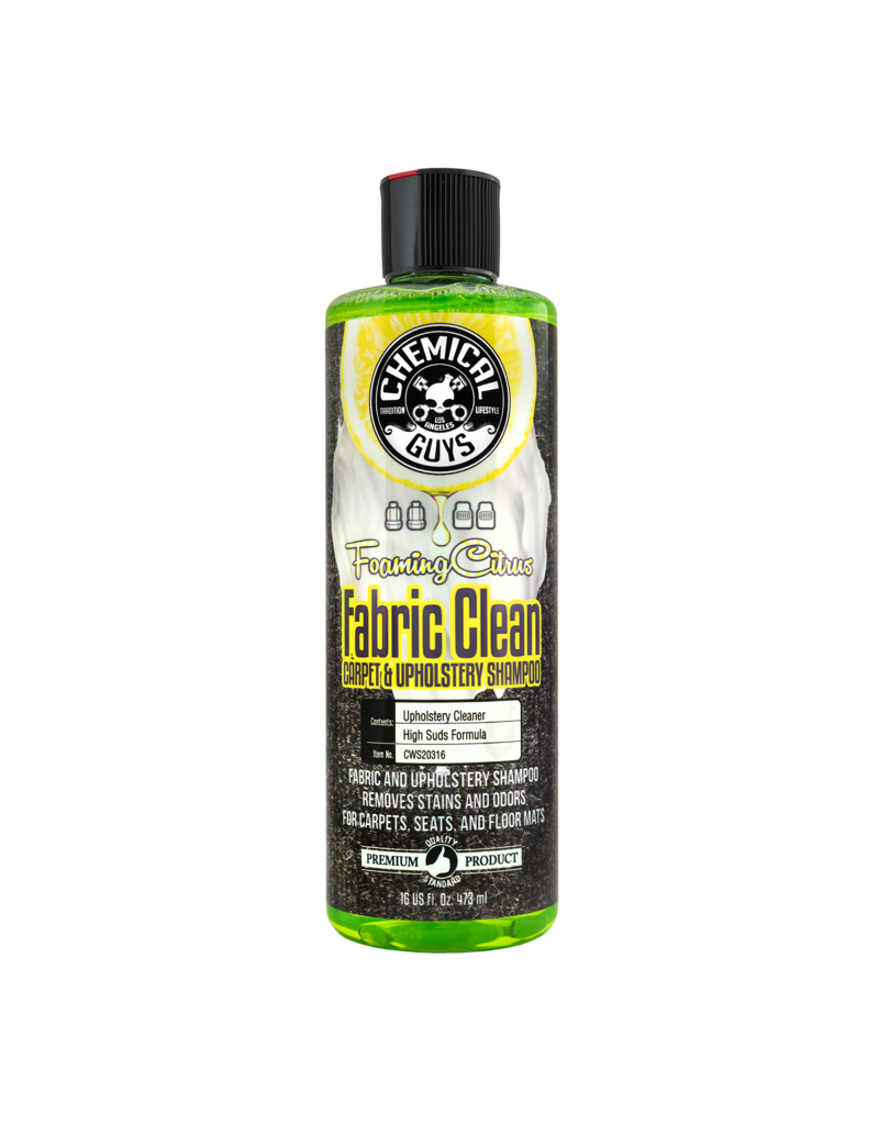 Chemical Guys Foaming Citrus Fabric Clean Carpet & Upholstery Shampoo (16oz)
