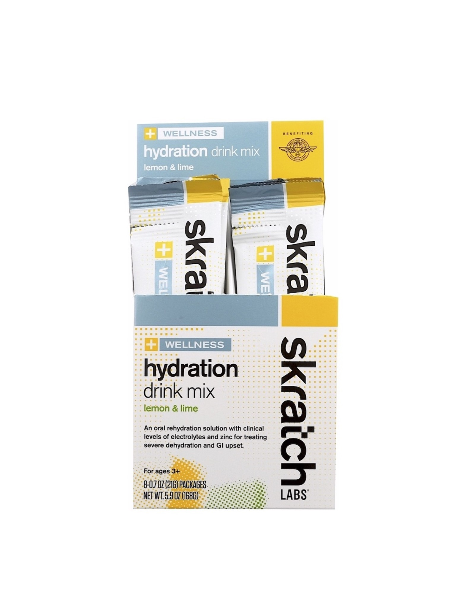 Skratch Labs Skratch Labs Wellness Hydration Drink Mix, Lemon and Lime, 21g, Single Serving 8-Pack
