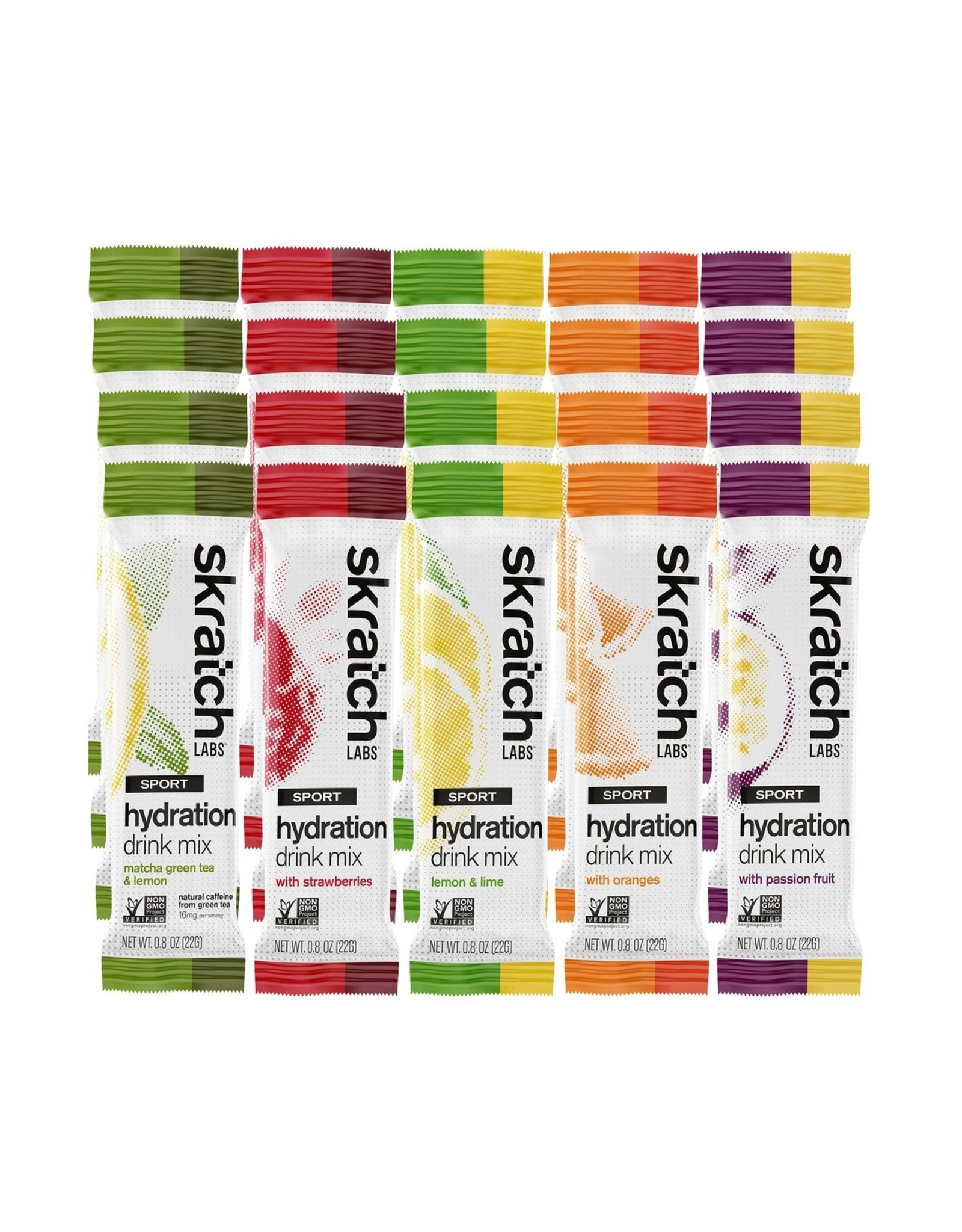 Skratch Labs Skratch Labs Sport Hydration Drink Mix, Variety Pack, 22g, Single Serving 20-Pack