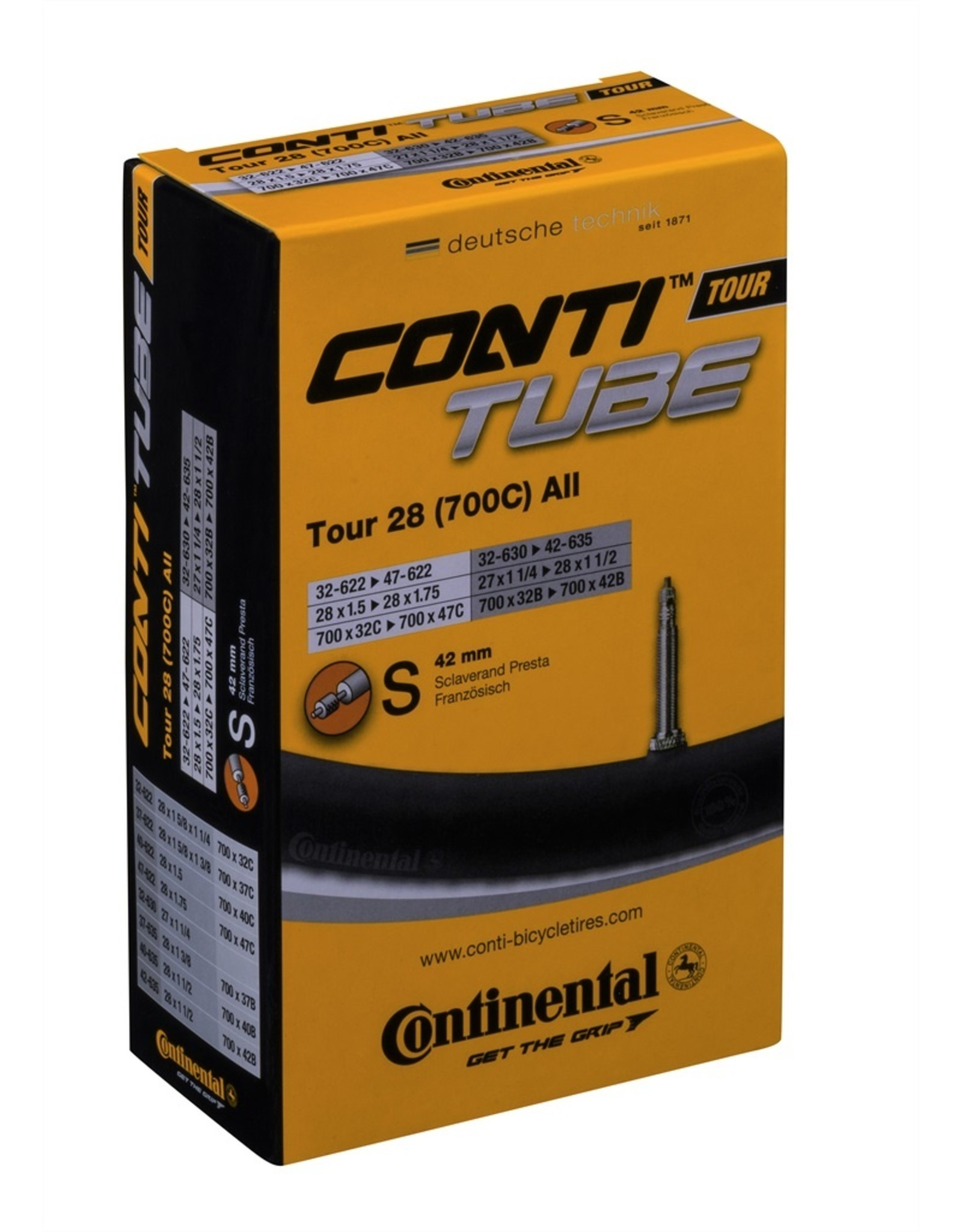 Continental Continental Road Tubes w/ 42mm Presta Valves