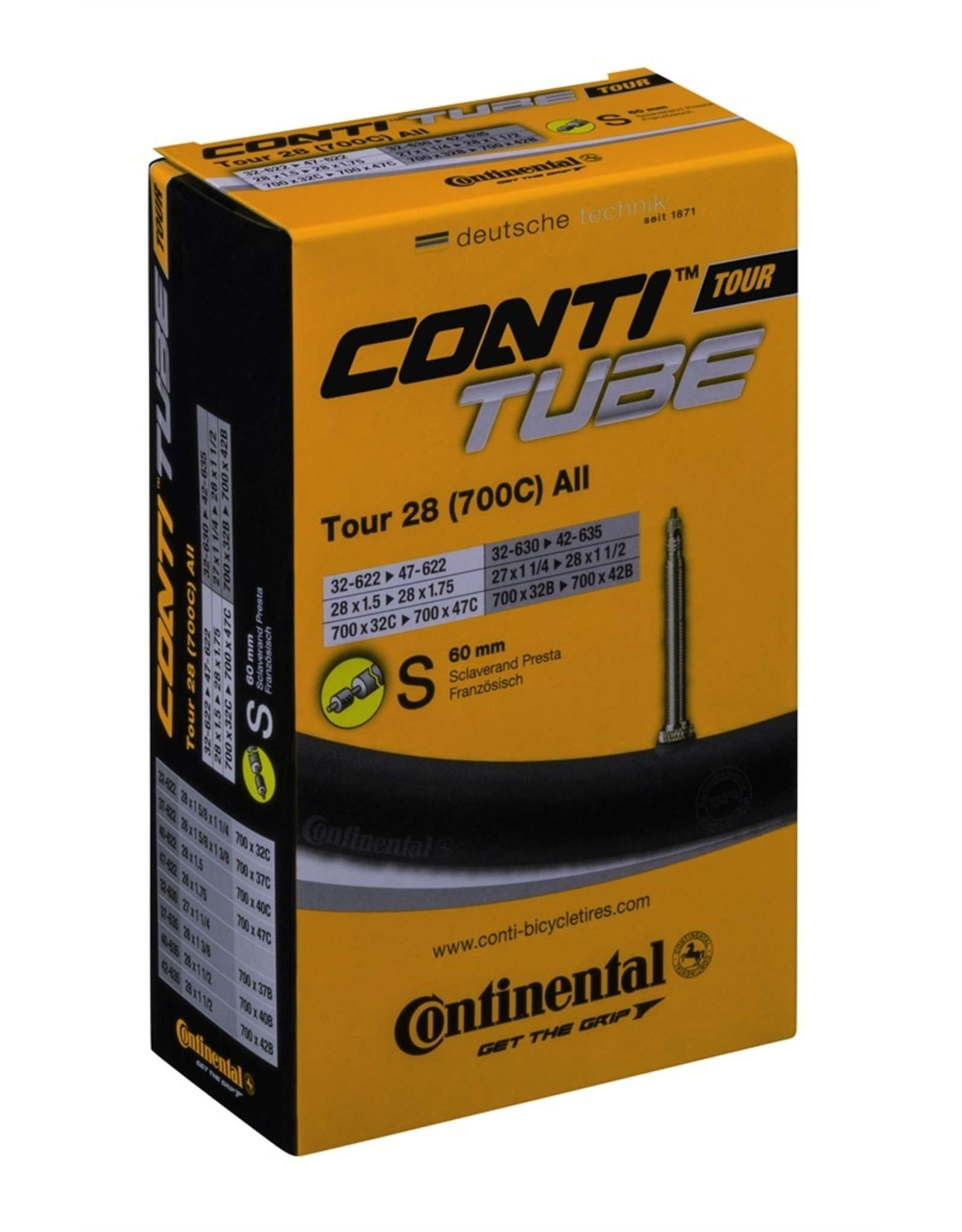 Continental Continental Road Tubes w/ 60mm Presta Valves