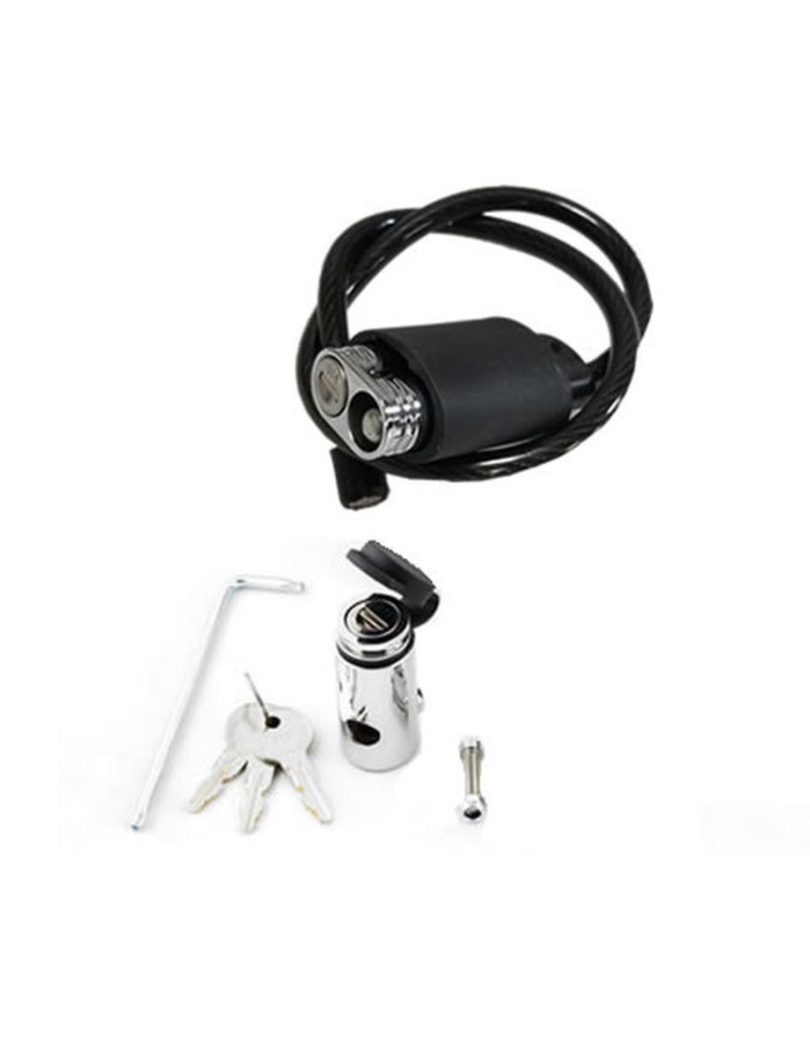 Kuat Kuat Transfer Cable Lock Kit w/ Locking Hitch Pin