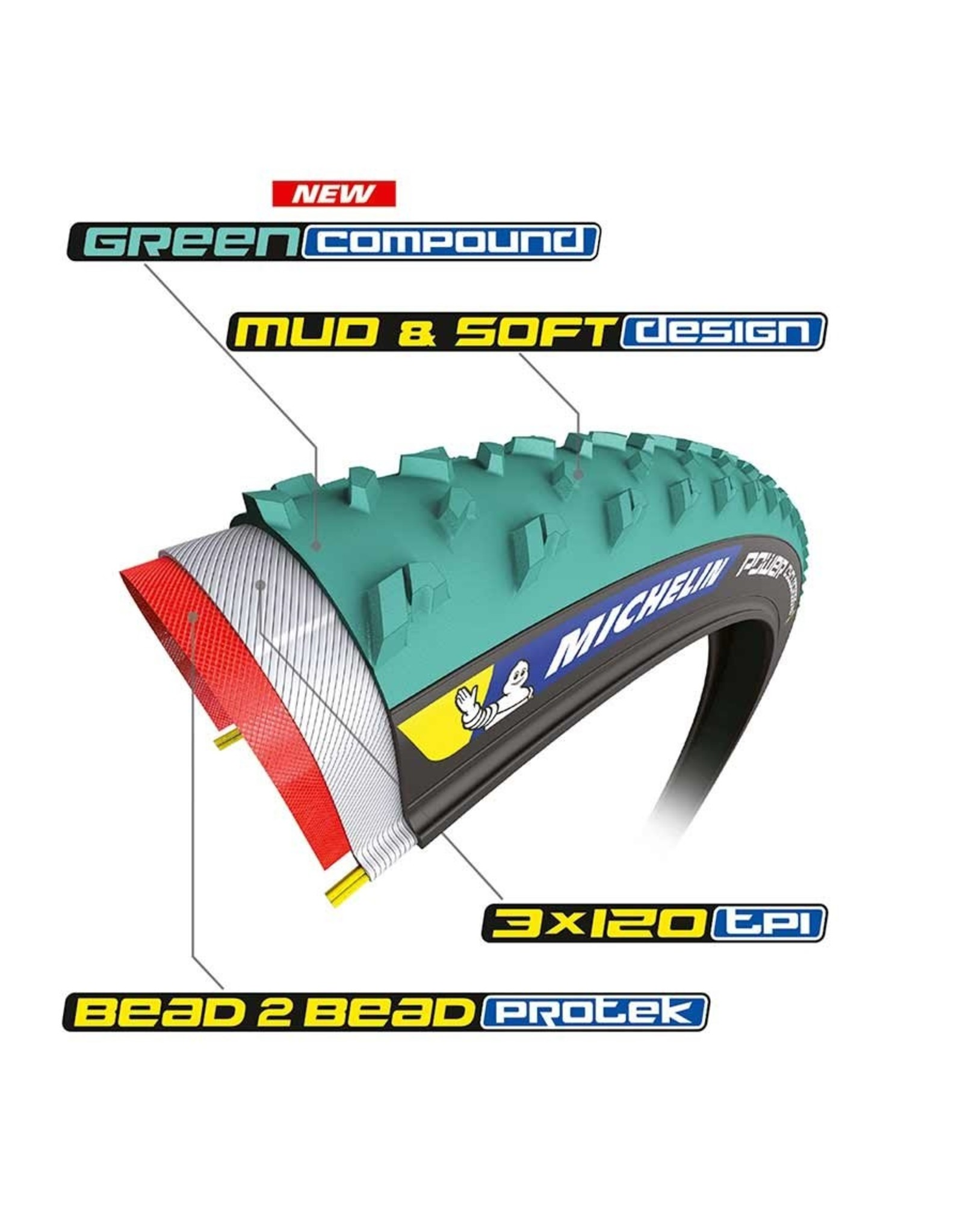 Michelin Michelin Power Cyclocross Mud 700 x 33C