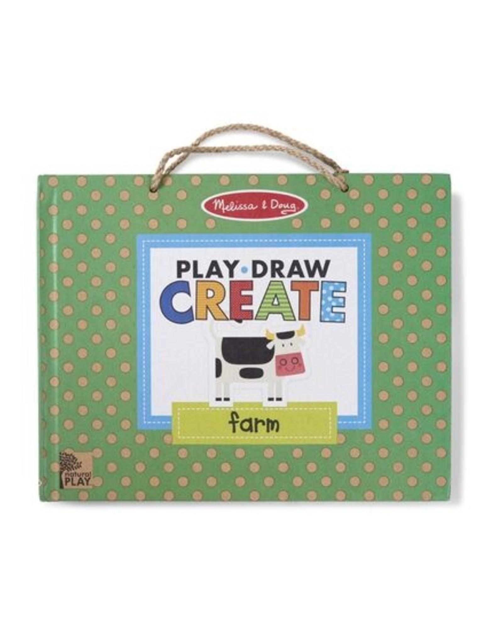 Melissa & Doug Play, Draw, Create - Farm Fun