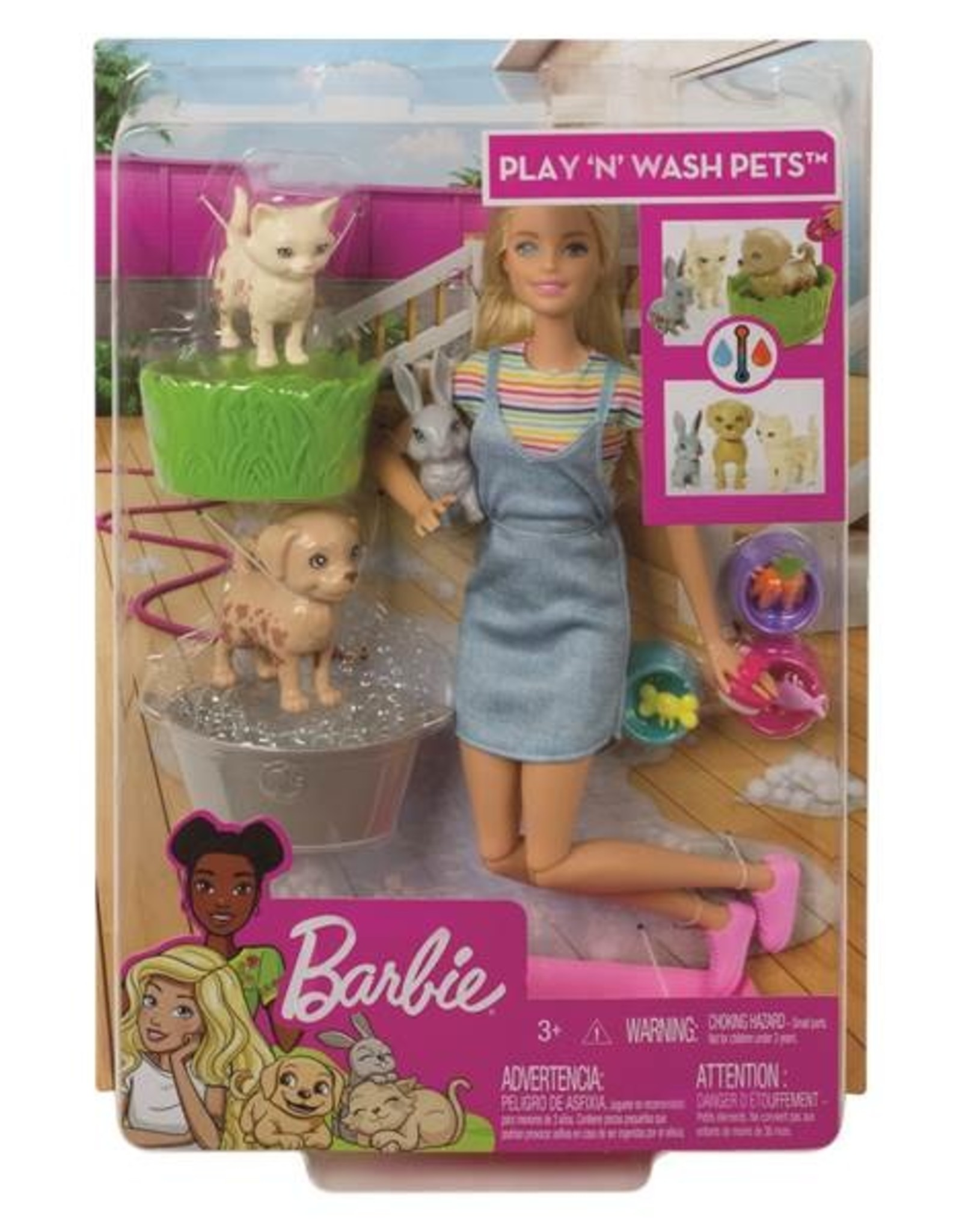Barbie Barbie Play N Wash Pets Doll & Playset