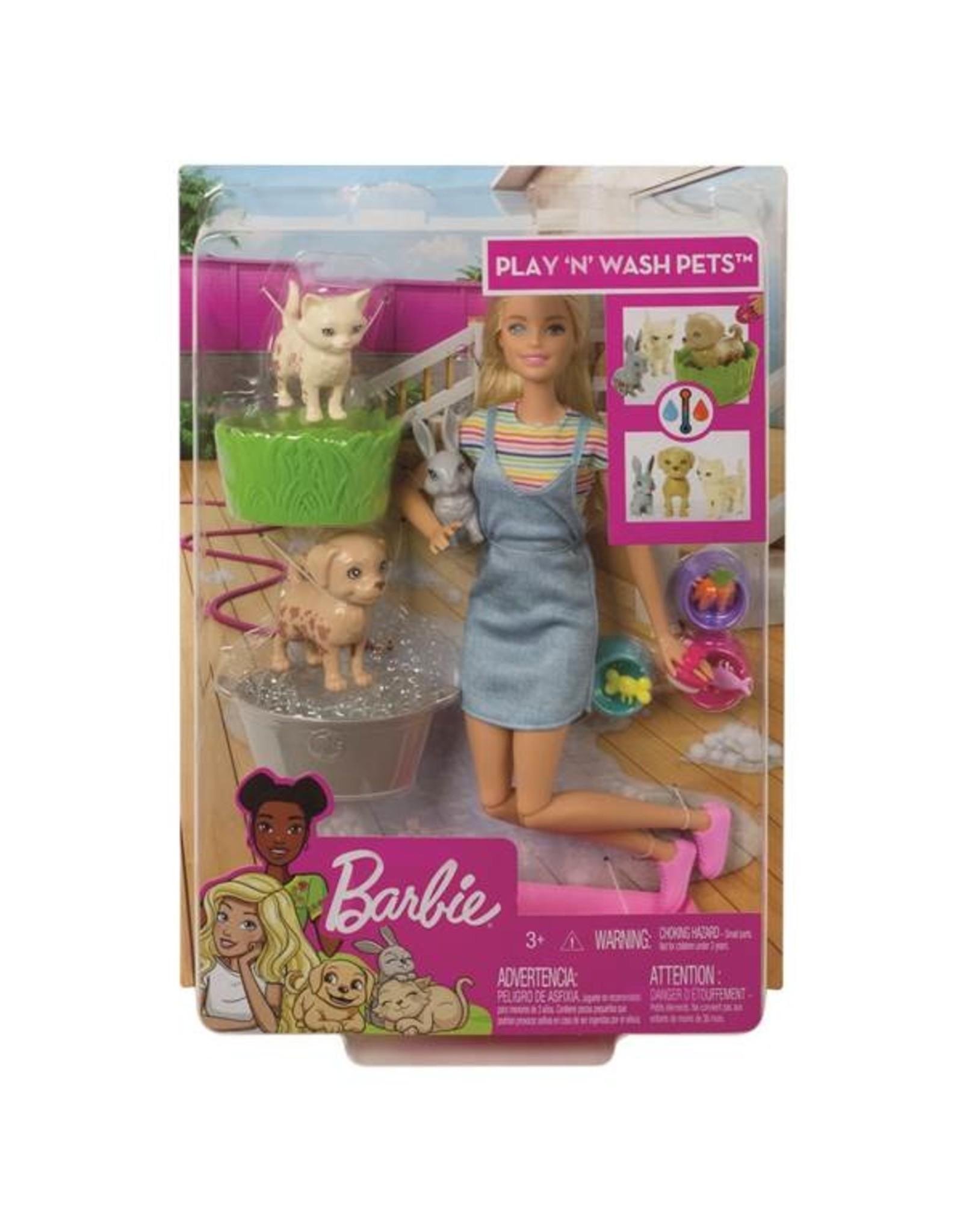 Barbie Barbie Play N Wash Pets Doll & Playset
