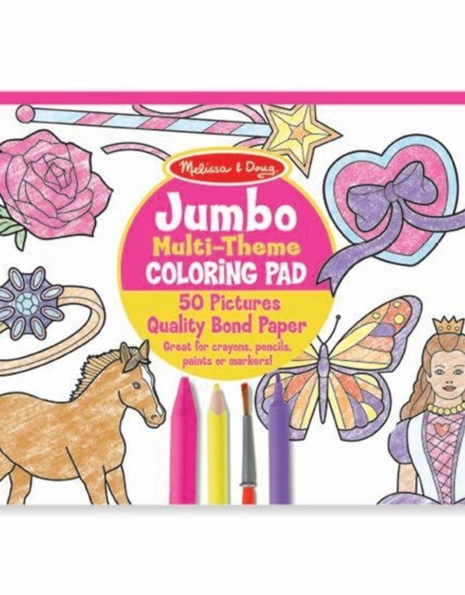 "Melissa & Doug Jumbo Coloring Pad - Pink (11"" x 14"")"