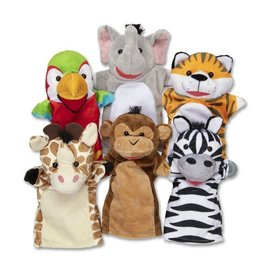Melissa & Doug Safari Puppet Set (6 Pc)
