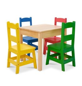 Melissa & Doug Table & 4 Chairs - Primary Colors
