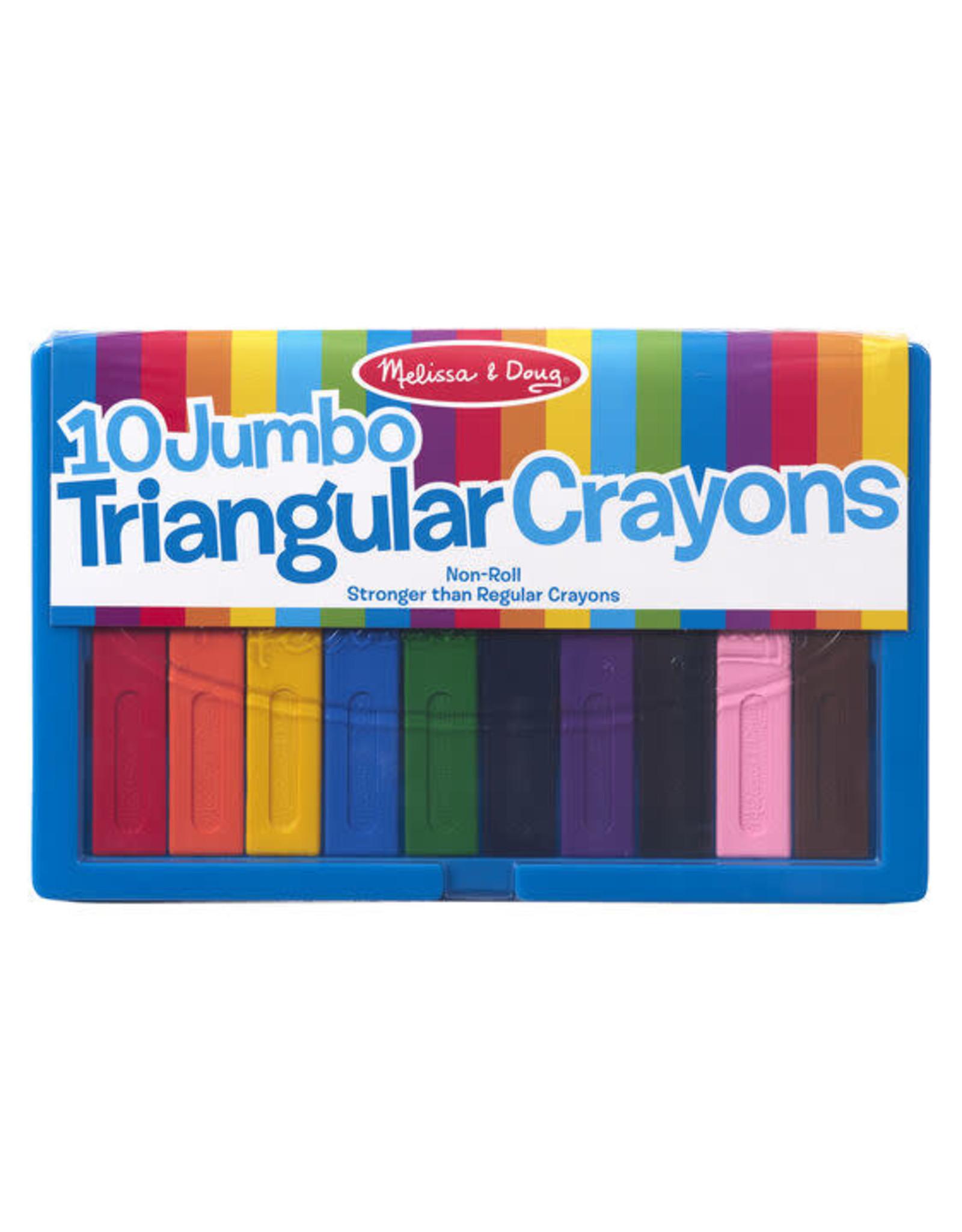 Melissa & Doug Jumbo Triangular Crayons (10 pc)