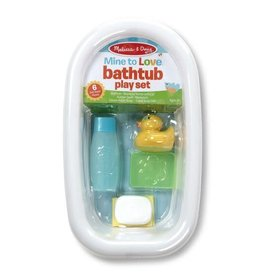Melissa & Doug Mine to Love Bathtub Play Set - White