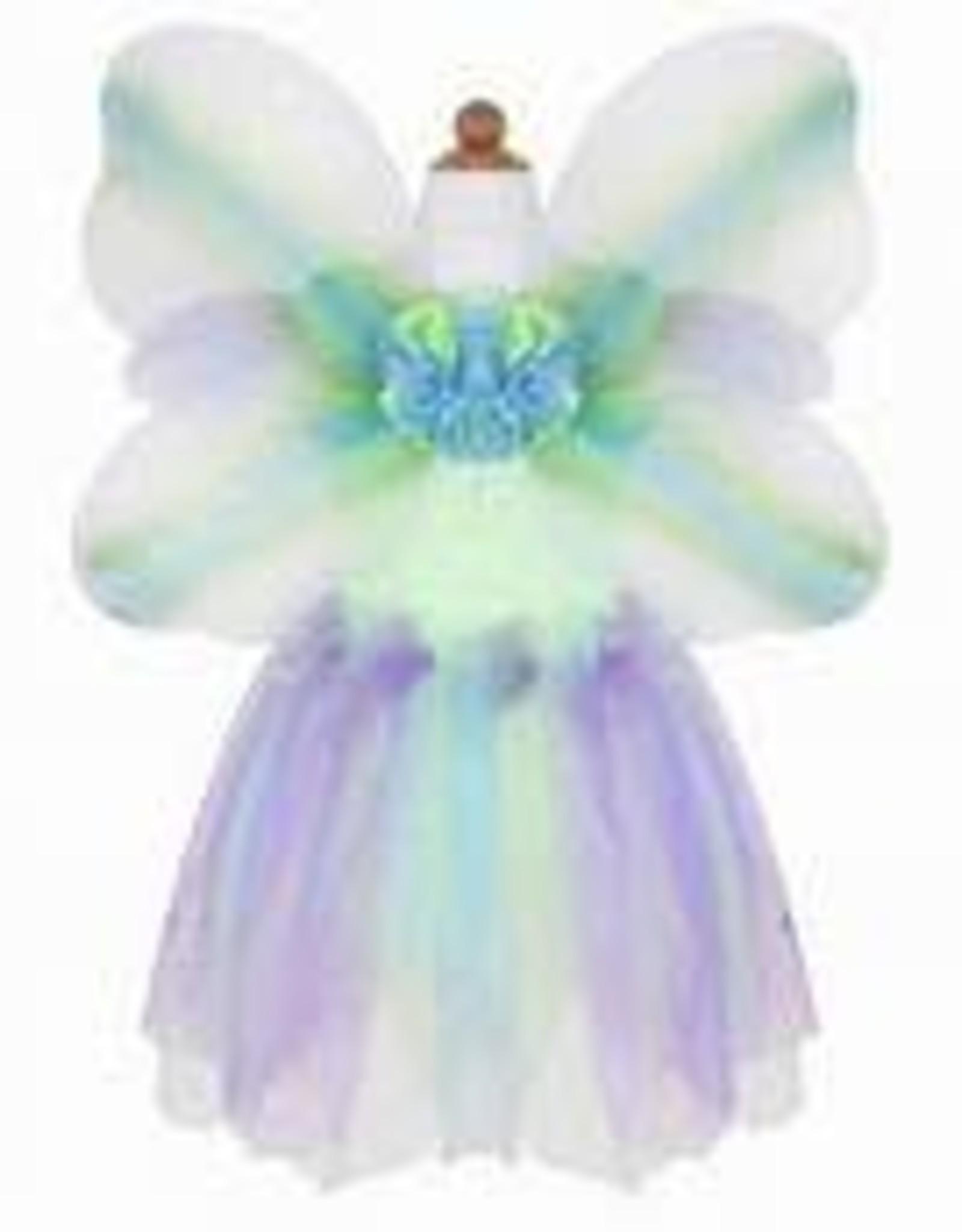 Great Pretenders Butterfly Dress & Wings With Wand, Green/Multi, Size 5-6