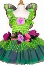 Great Pretenders Fairy Blooms Deluxe Dress & Wings, Green Size 5-6