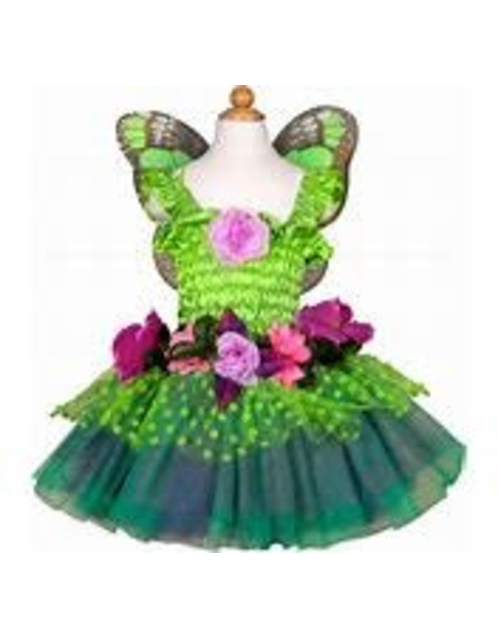 Great Pretenders Fairy Blooms Deluxe Dress & Wings, Green Size 5-6