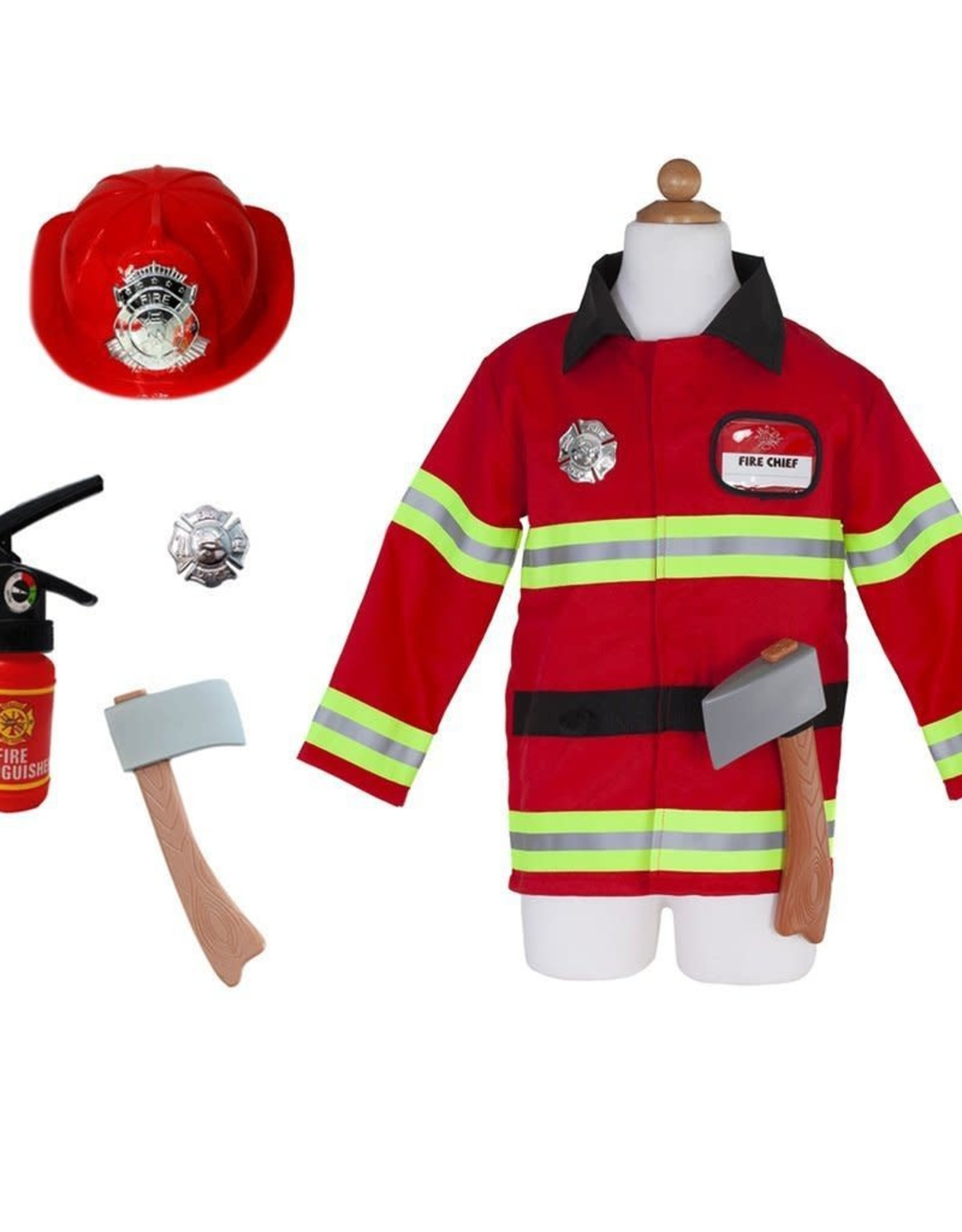 Great Pretenders Firefighter Set Includes 5 Accessories, Size 5-6