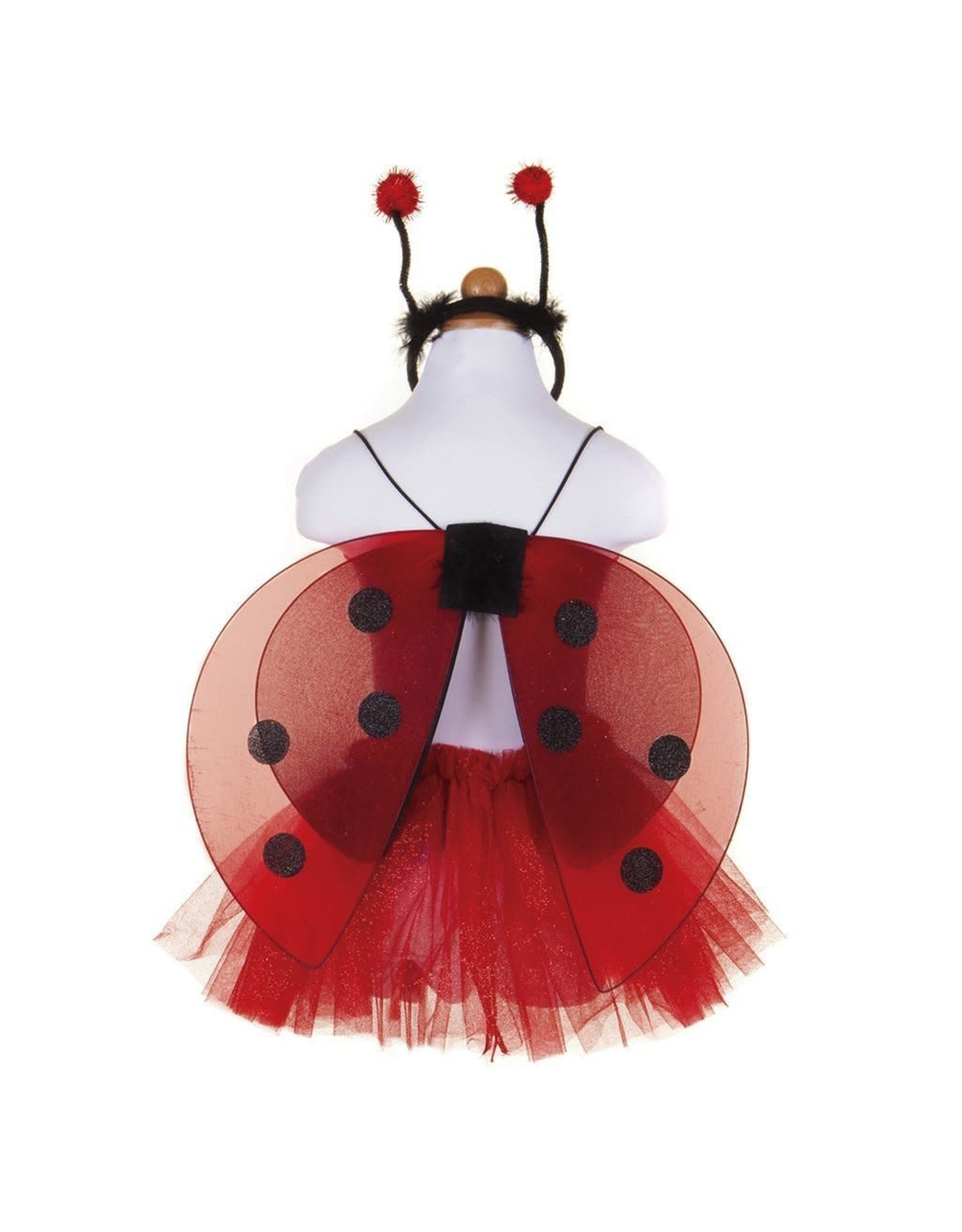 Great Pretenders Glitter Ladybug Tutu With Wings & HB, Size 4-6