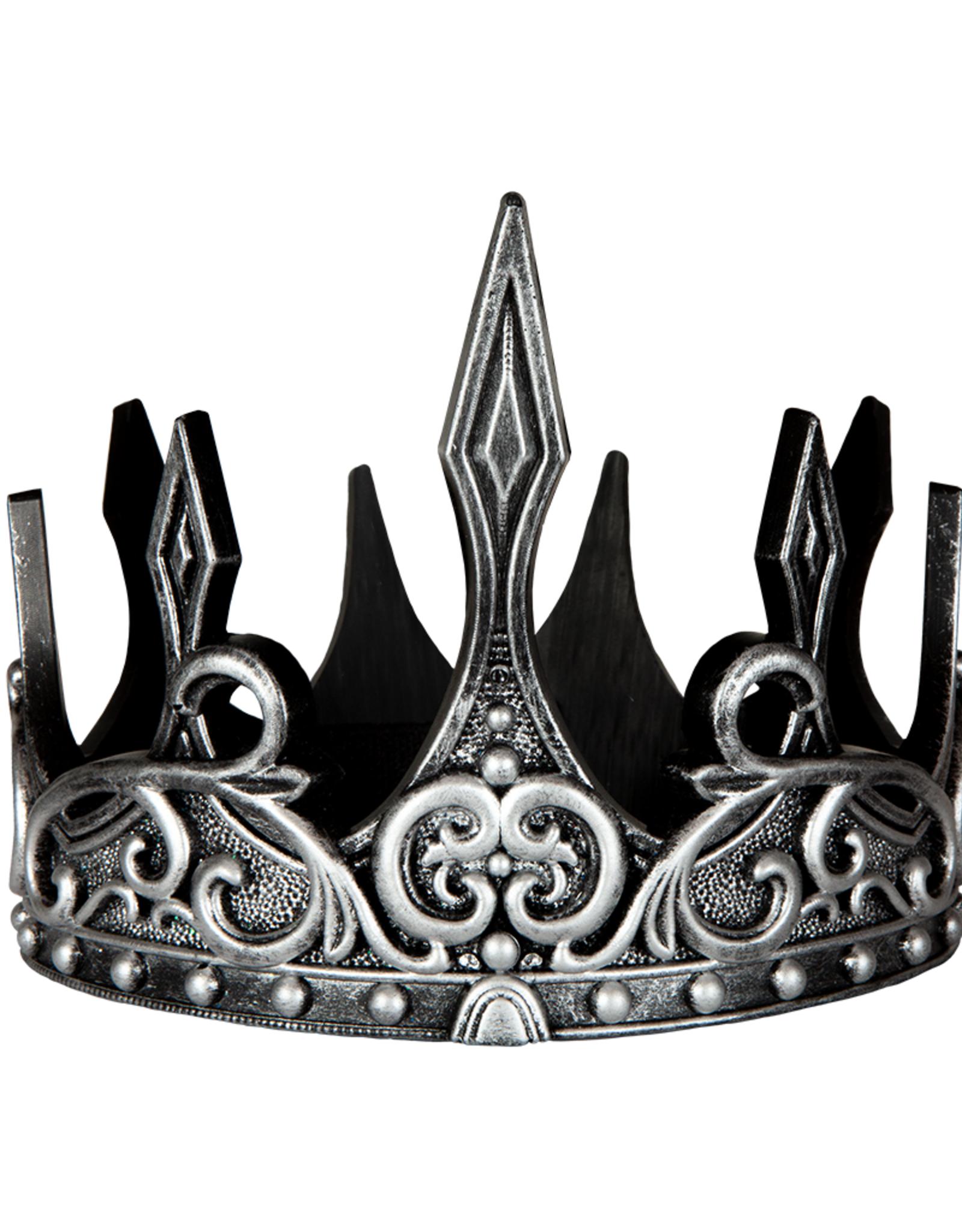 Great Pretenders Medieval Crown, Silver/Black