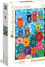 Creative Toy Company Cute Little Owls, 500 pc puzzle in modular box - NEW