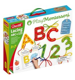 Quercetti LACING ABC + 123 MONTESSORI