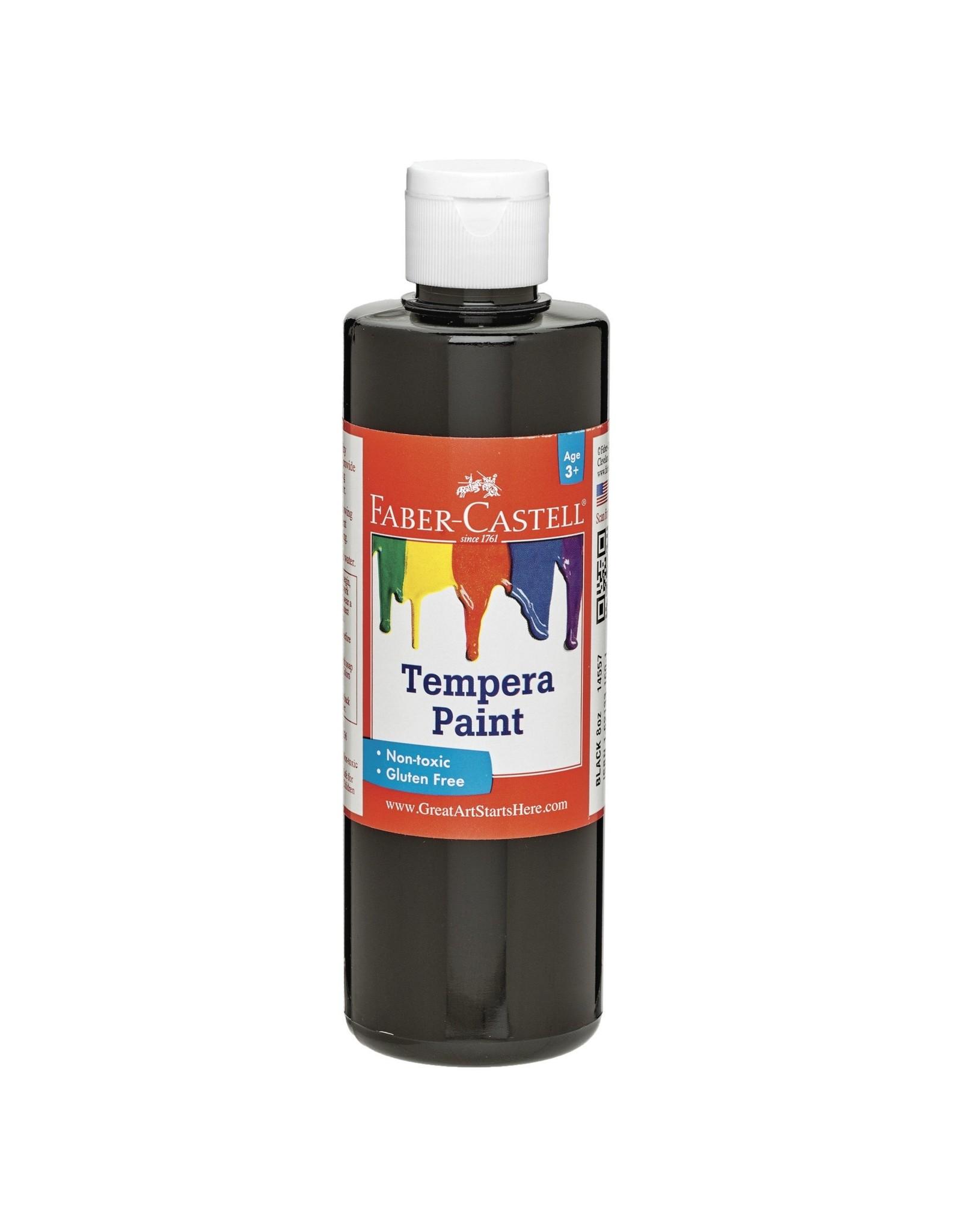 Faber-Castell Black Tempera Paint (8 oz bottles)