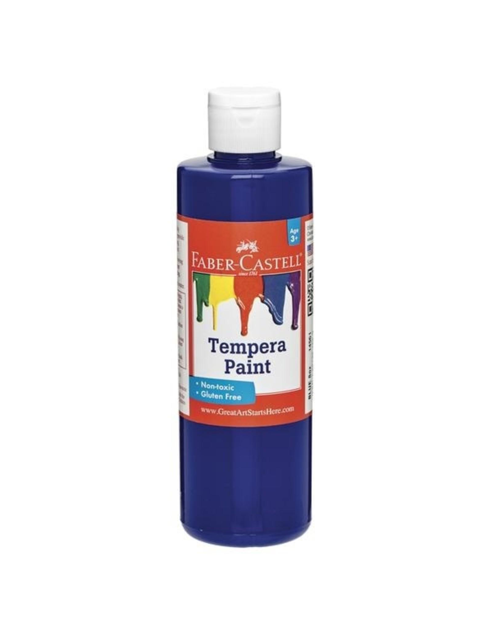 Faber-Castell Blue Tempera Paint (8 oz bottles)