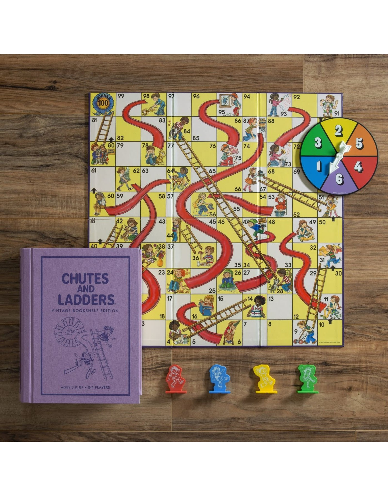 WS Games Chutes and Ladders Bookshelf Edition