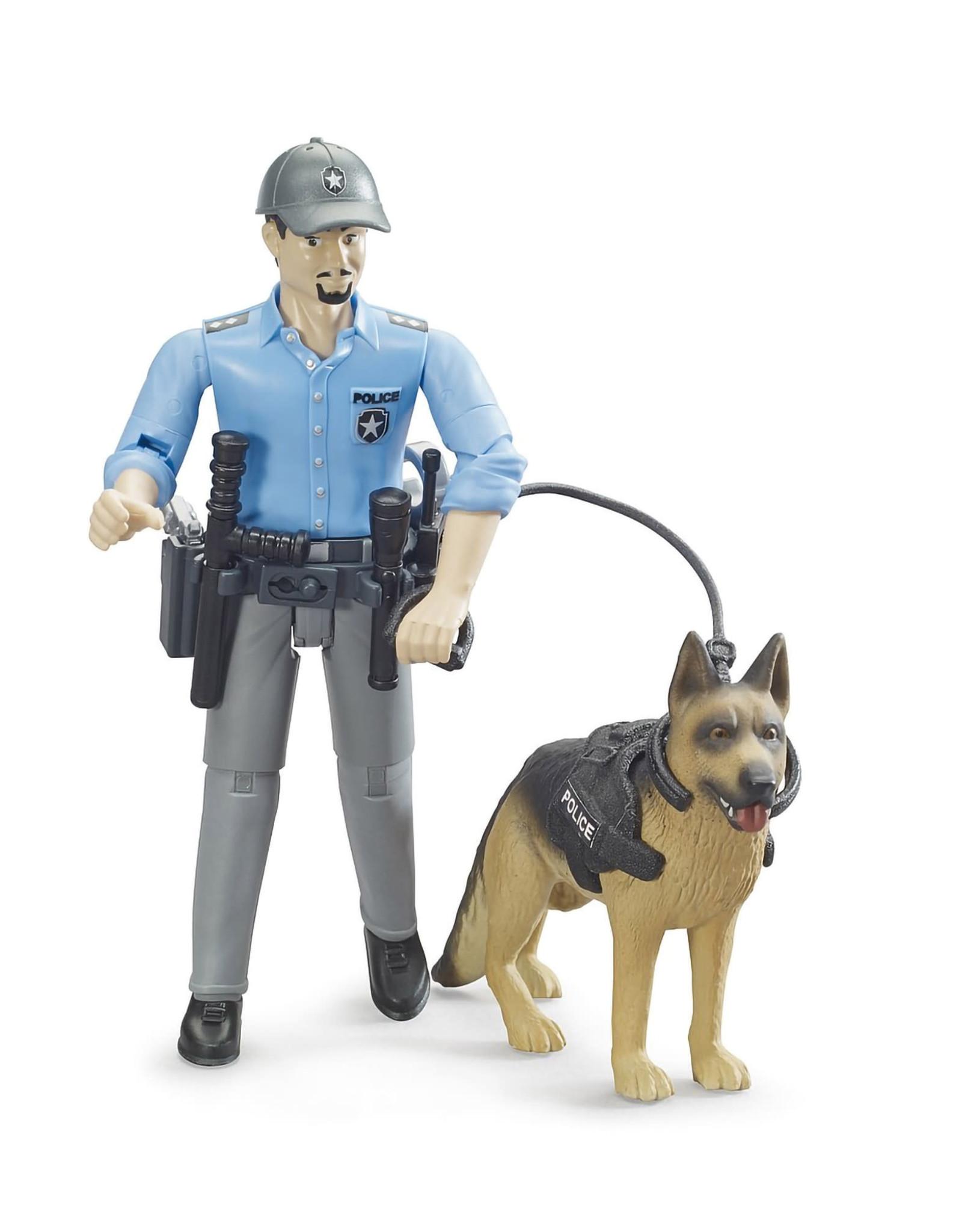 Bruder bworld Policeman with dog