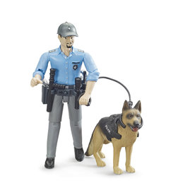 Bruder bworld Policeman with dog