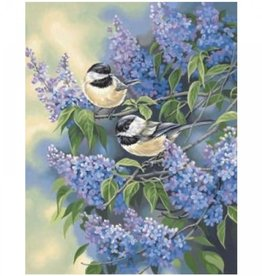 Paint Works Chickadees and Lilacs